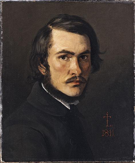 J.Th. Lundbye. Selvportræt fra 1841.